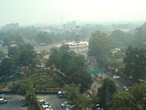 Lucknow photos, Hazratganj Market - A n aeriel view.