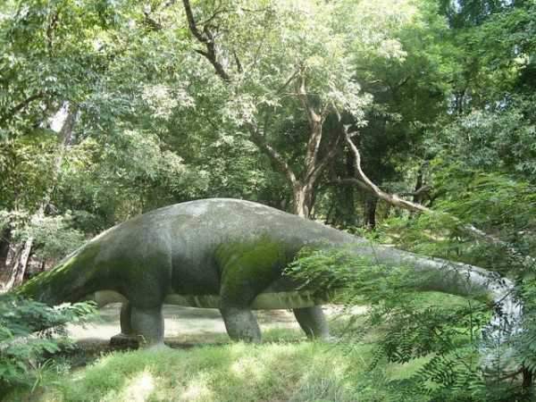 Kanpur photos, Allen Forest Zoo - A life-sized sculpture of a  dinosaur.