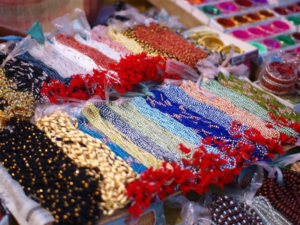 Varanasi photos, Colourful necklaces at Street Stall