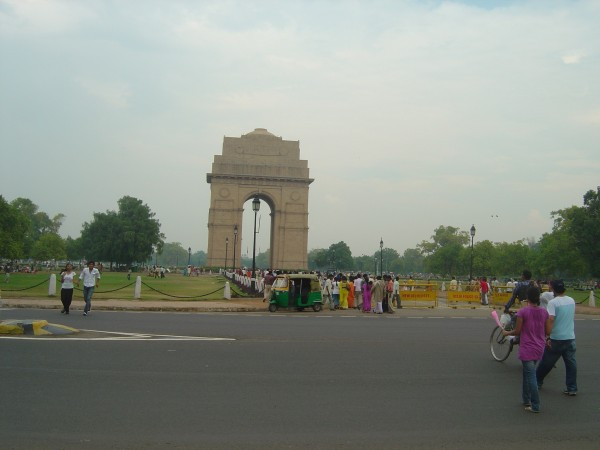 Delhi photos, India Gate - A distant view of gate