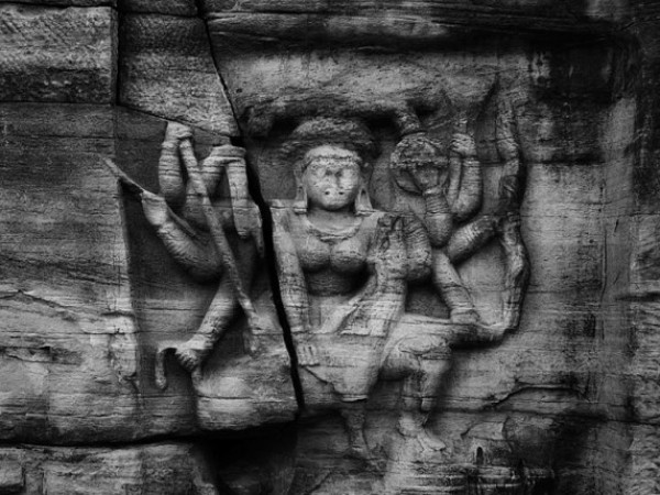 Vidisha photos, Vidisha Caves- Goddess Durga  Sculpture