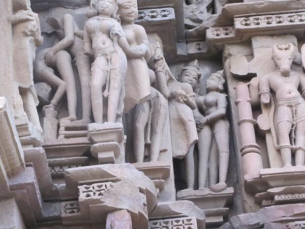 Khajuraho photos, Javari Temple - Erotic Sculptures