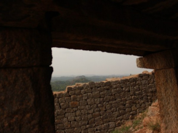 Savandurga photos,A Stone Structure