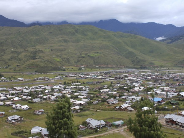 Along photos, Mechuka - An Aerial View