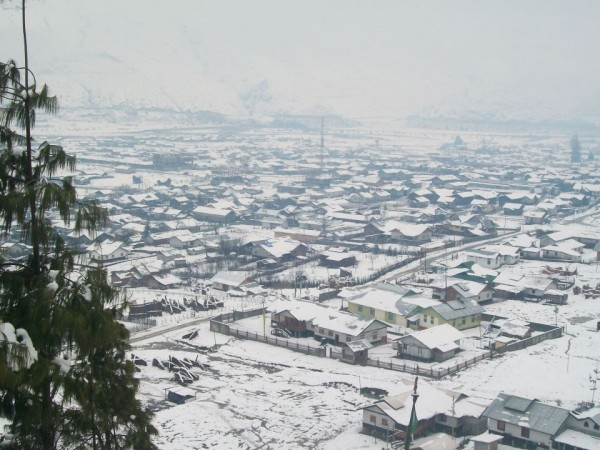 Along photos, Mechuka - Snowfall in Mechuka