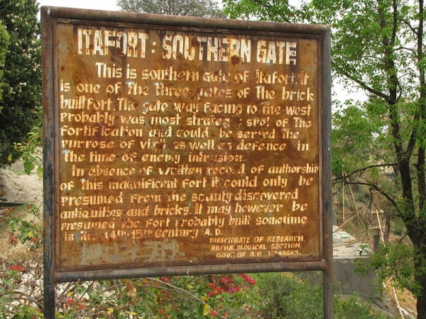 Itanagar photos, Ita Fort - Signpost at Ita Fort