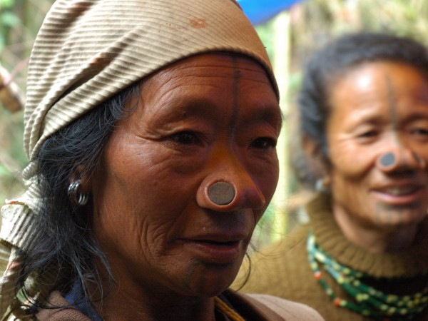 Ziro photos, Apatani tribal women