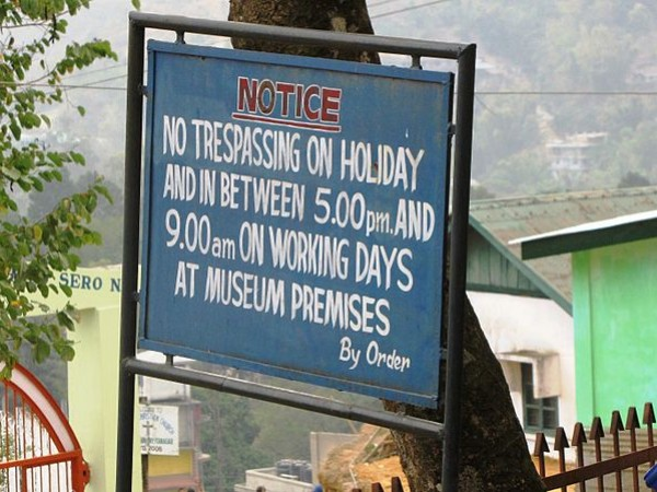 Itanagar photos, Jawaharlal Nehru Museum - Signpost at the Museum campus