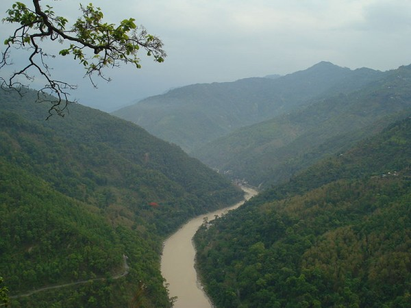 Gangtok photos, River Teesta -An aerial view