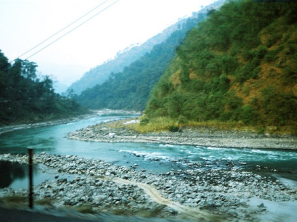 Gangtok photos, River Teesta - The Meandering Course