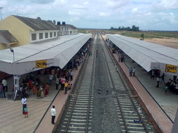 Dumka photos, Station View from Over Bridge