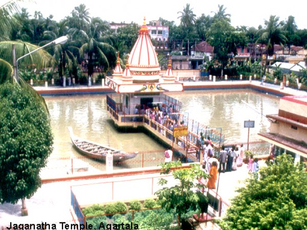 Agartala photos, Jagannath temple - An aerial view of the temple