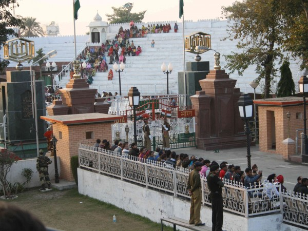 Amritsar photos, Wagah Border - A wider view of the Gate