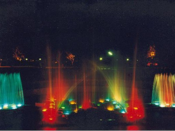 Ludhiana photos, Nehru Rose Garden - Colourful view of Fountain