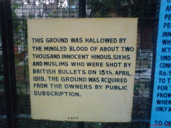 Jallianwala Bagh photos, A sign
