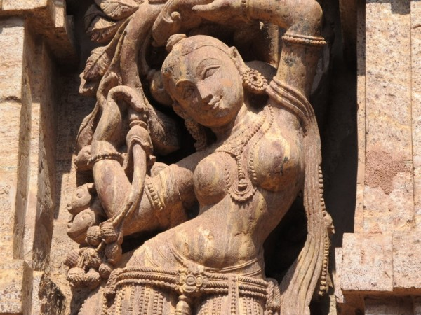Berhampur photos, Taratarini Temple - A beautiful Sculpture on the wall