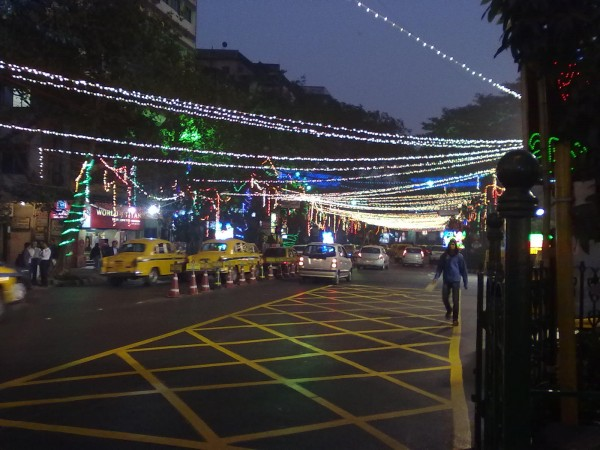 Kolkata photos, Park Street and Camac Street - Christmas Night