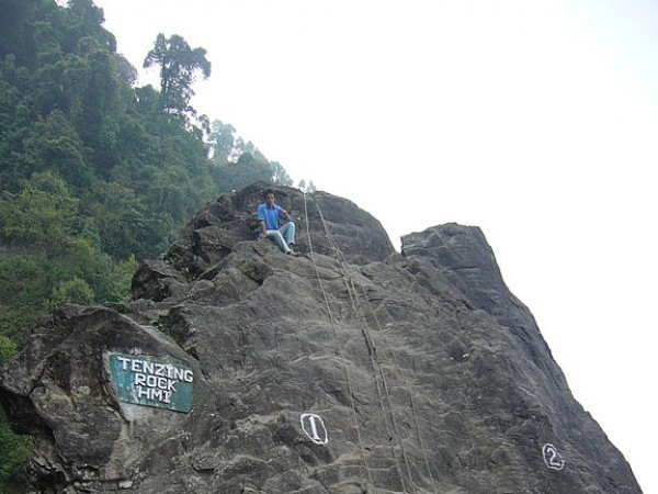 Darjeeling photos, Himalayan Mountaineering Institute and Museum - The Tenzing Rock inside the campus