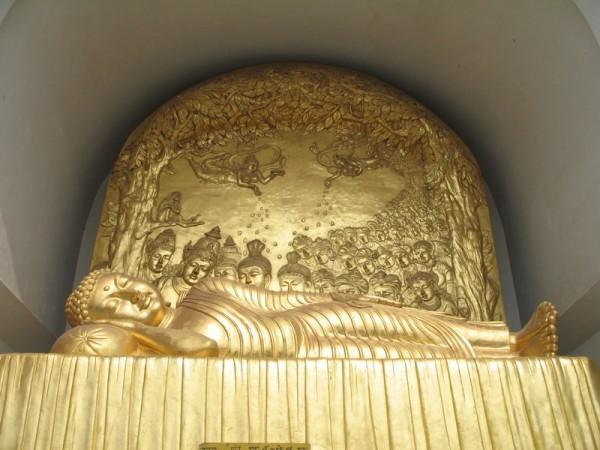 Rajgir photos, Shanti Stupa - Buddha Statue