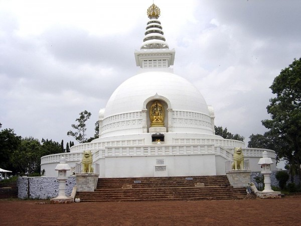 Rajgir photos, Shanti Stupa - Distant View