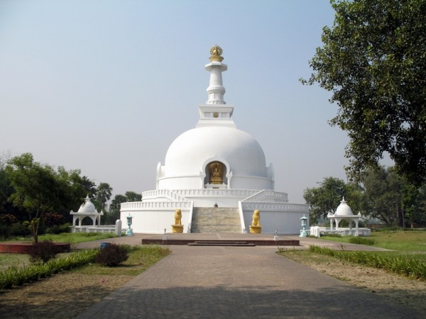 Rajgir photos, Shanti Stupa - Full View