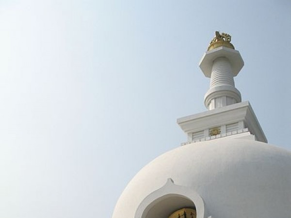 Rajgir photos, Shanti Stupa - Side View
