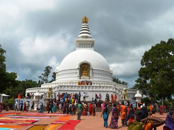 Rajgir photos, Shanti Stupa - Tourists