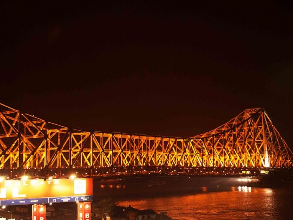 Kolkata photos, Howrah Bridge - Bridge at Night