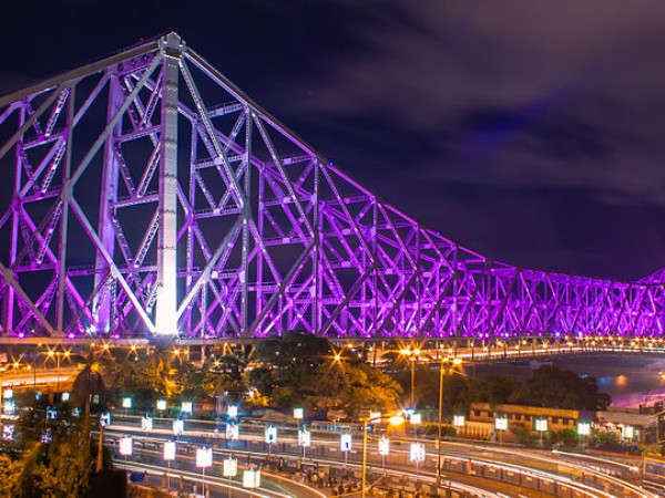 Kolkata photos, Howrah Bridge - The Lights