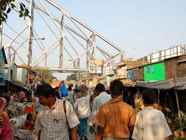 Kolkata photos, Howrah Bridge - Market Area