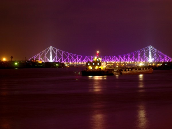 Kolkata photos, Howrah Bridge - A Night View