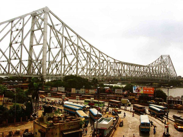 Kolkata photos, Howrah Bridge - A Panoramic View