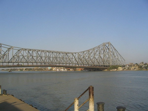 Kolkata photos, Howrah Bridge -A Distant View