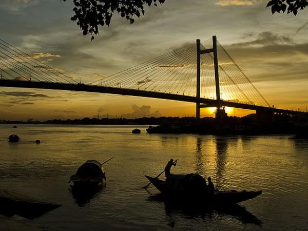 Howrah photos, Vidyasagar Setu - Dawn