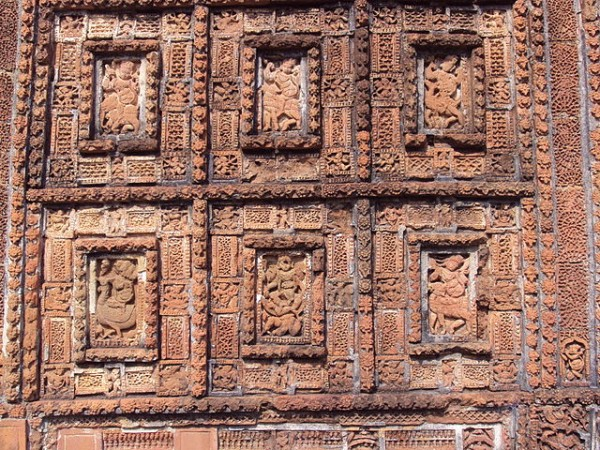 Bishnupur-West Bengal photos, Shyam Rai Temple - Terracotta Work