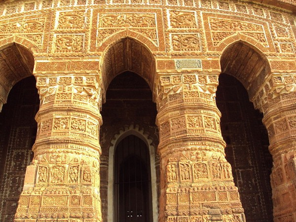 Bishnupur-West Bengal photos, Jorebangla Temple at Keshto Rai - Arches