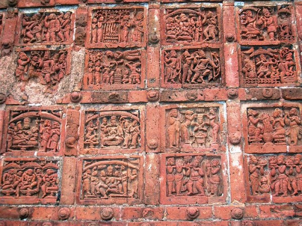 Bishnupur-West Bengal photos, Jorebangla Temple at Keshto Rai - Ramayana Motifs