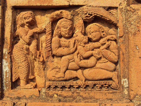 Bishnupur-West Bengal photos, Jorebangla Temple at Keshto Rai - Terracotta Work