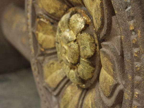 Bodh Gaya photos, Mahabodhi Temple - Pillar detailing