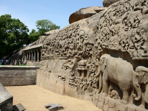 Mahabalipuram photos, Carvings at the Tiger Cave