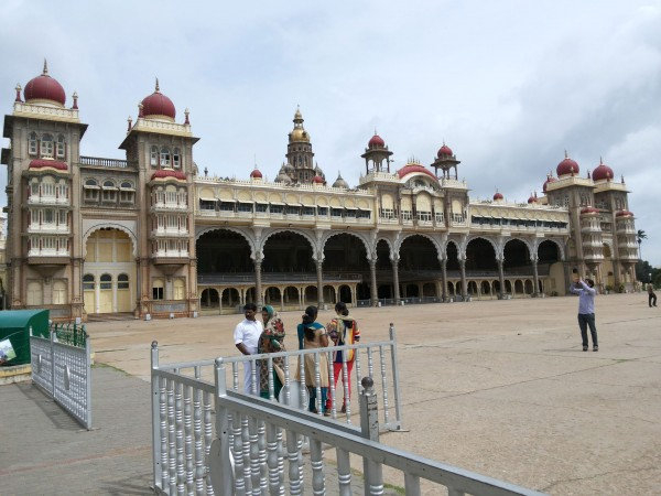Mysore photos, Mysore Palace - A Side View