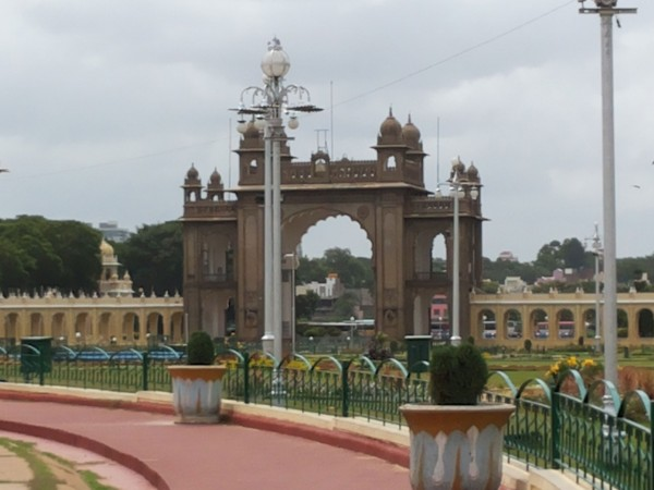 Mysore photos, Mysore Palace - Distant View