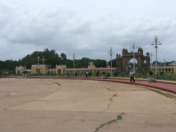 Mysore photos, Mysore Palace - From a Distance