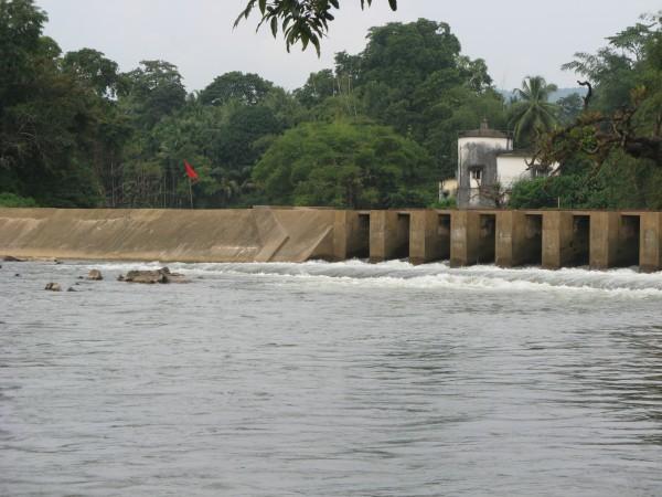 Dharmasthala photos, Netravati River Barrage - Mundaje