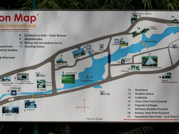 Bangalore photos, Pyramid valley - Location Map