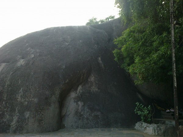 Vellore photos, Vallimalai - A closer look will show the rock formation of the back of an elephant