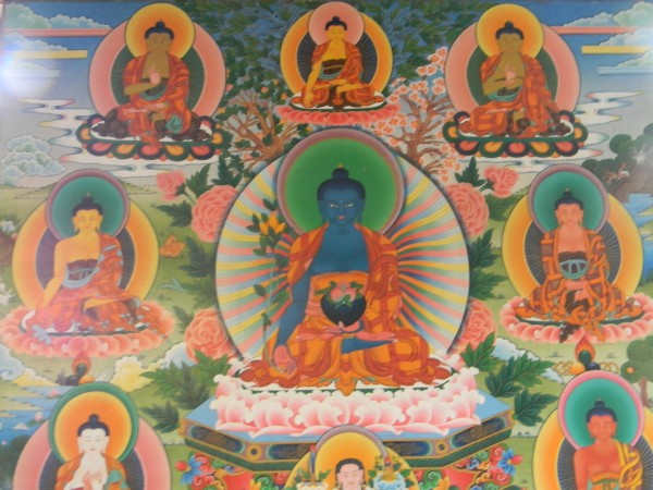 Coorg photos, Bylakuppe - bylakuppe, buddhist painting1, coorg