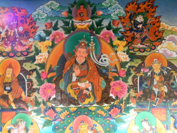 Coorg photos, Bylakuppe - bylakuppe, buddhist painting4, coorg