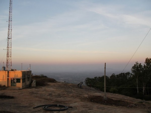 Nandi Hills photos, Far off view of a village from the Nandi Hills just after the sunrise