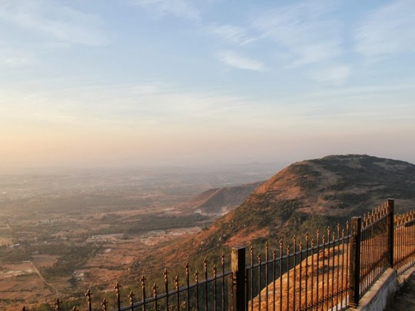 Nandi Hills photos, The village below viewed from the edge of Nandi Hills